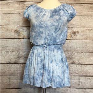 C & C California blue tie dye mini dress Size Med